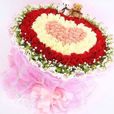 花市鲜花网_鲜花速递_久久爱 (粉玫瑰、白玫瑰、红玫瑰 爱情 友情 生日 朋友 七夕 情人 圣诞)