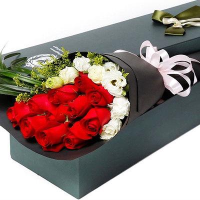 花市鲜花网_鲜花速递_比翼双飞 (红玫瑰 爱情 友情 朋友 生日 情人 七夕 礼盒 圣诞)