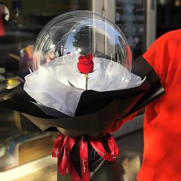 花市鲜花网_鲜花速递_告白气球-单支红玫瑰花束