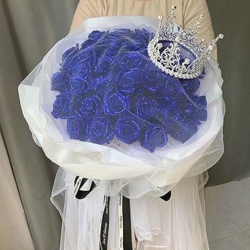 花市鲜花网_鲜花速递_蓝色妖姬王冠