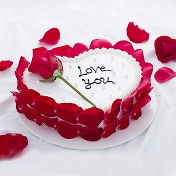 爱心瑰鲜蛋糕 14寸