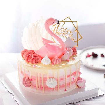 火烈鸟ins网红蛋糕 8寸