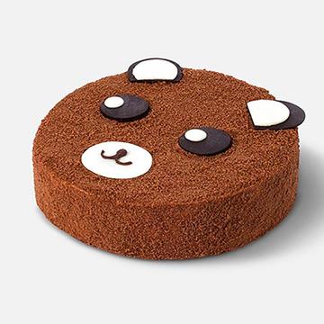 鲜花速递_PIPA 熊蛋糕 8寸