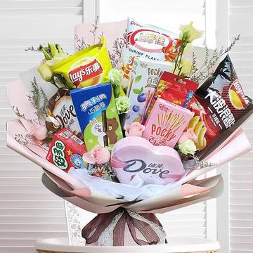 韩系网红零食花束送女友